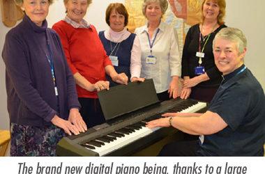 New piano for the faith centre!