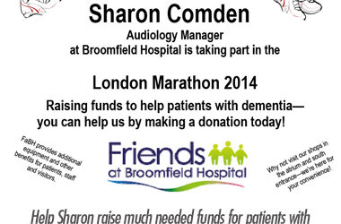 Sharon Comden Running London Marathon for Dementia