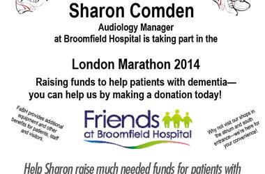 Sharon Comden Running London Marathon for Dementia