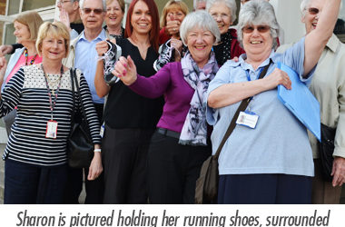 Sharon Comben running the London Marathon to raise funds to help patients with dementia.