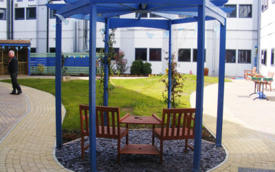 Sensory garden for patients with dementia is officially opened
