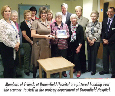The Friends contribute £3,558 towards much needed Bladder Scanner