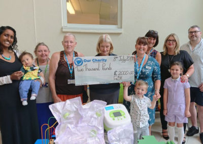 £2,000 Donated to Cleft Department