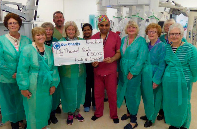 Friends at Broomfield donate £50k to Robot Appeal